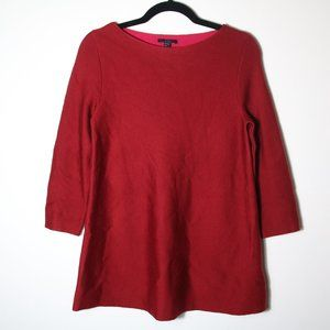 COS Red Wine Wool Boat Neck Sweater Size XS